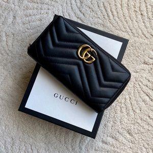 Authentic GG Marmont Zip Around Wallet